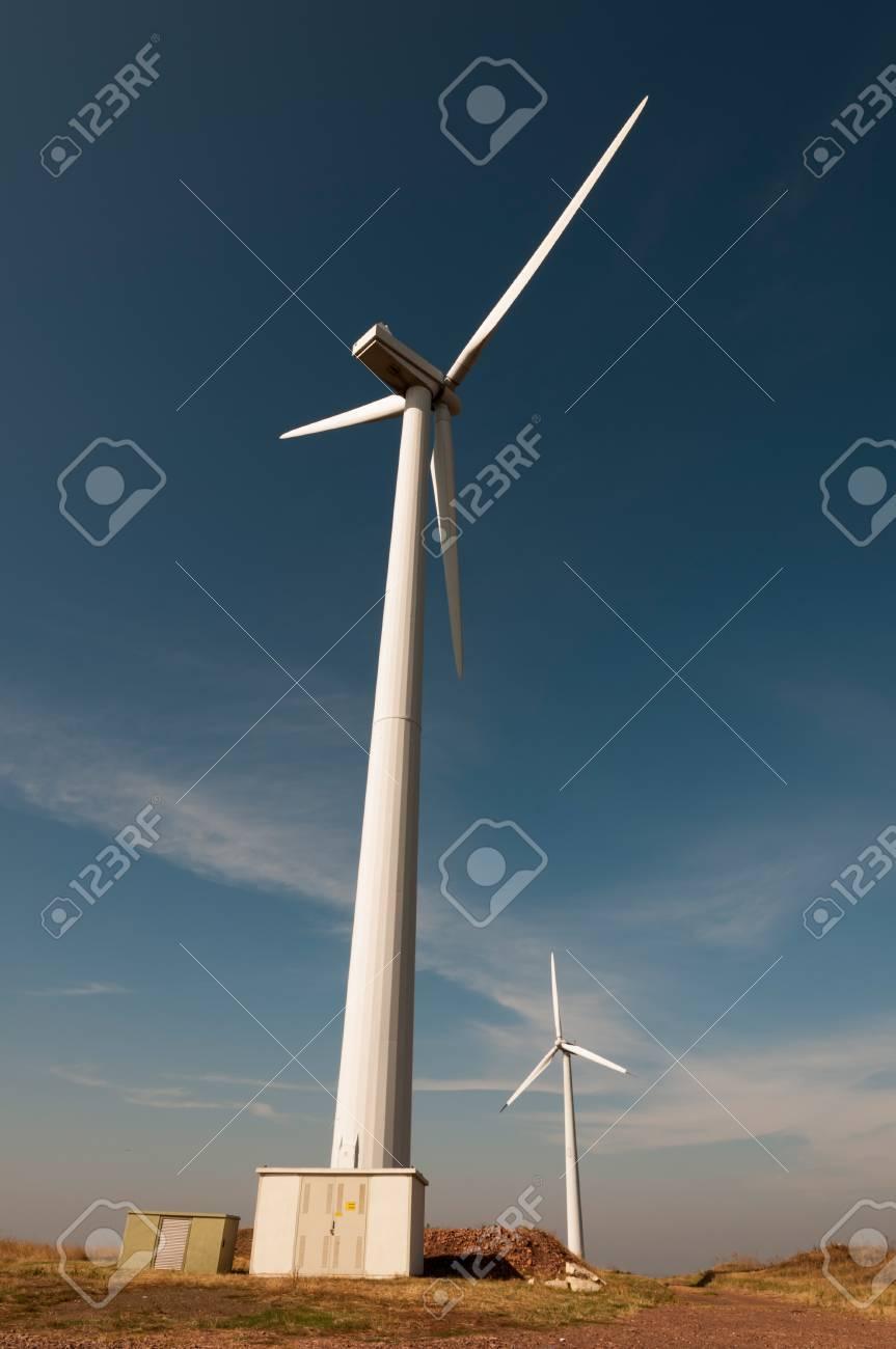 Wind generator working on the field. Stock Photo - 15771654