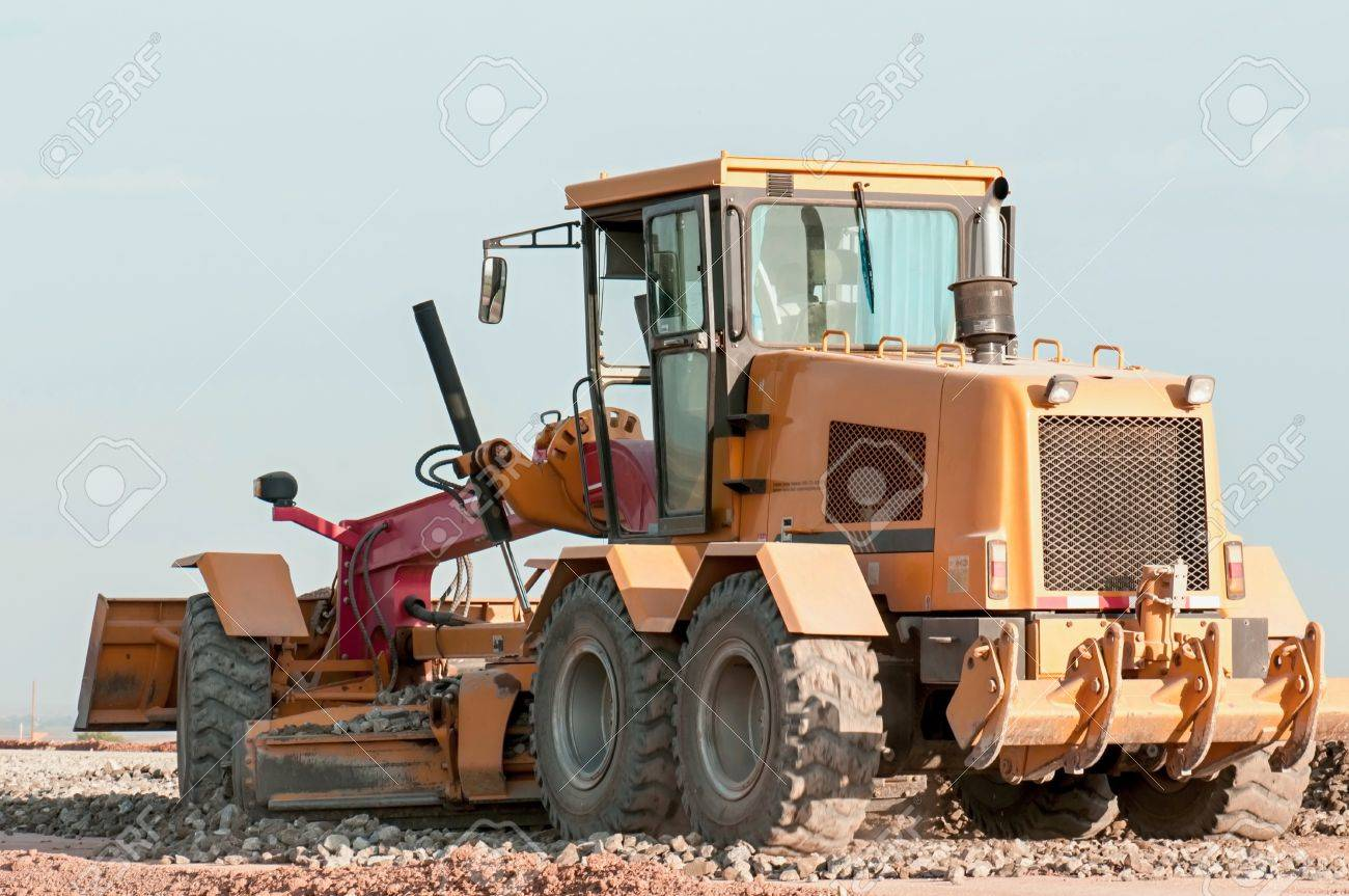 Support activities for the construction of roads and highways. Road under construction. Stock Photo - 15773363