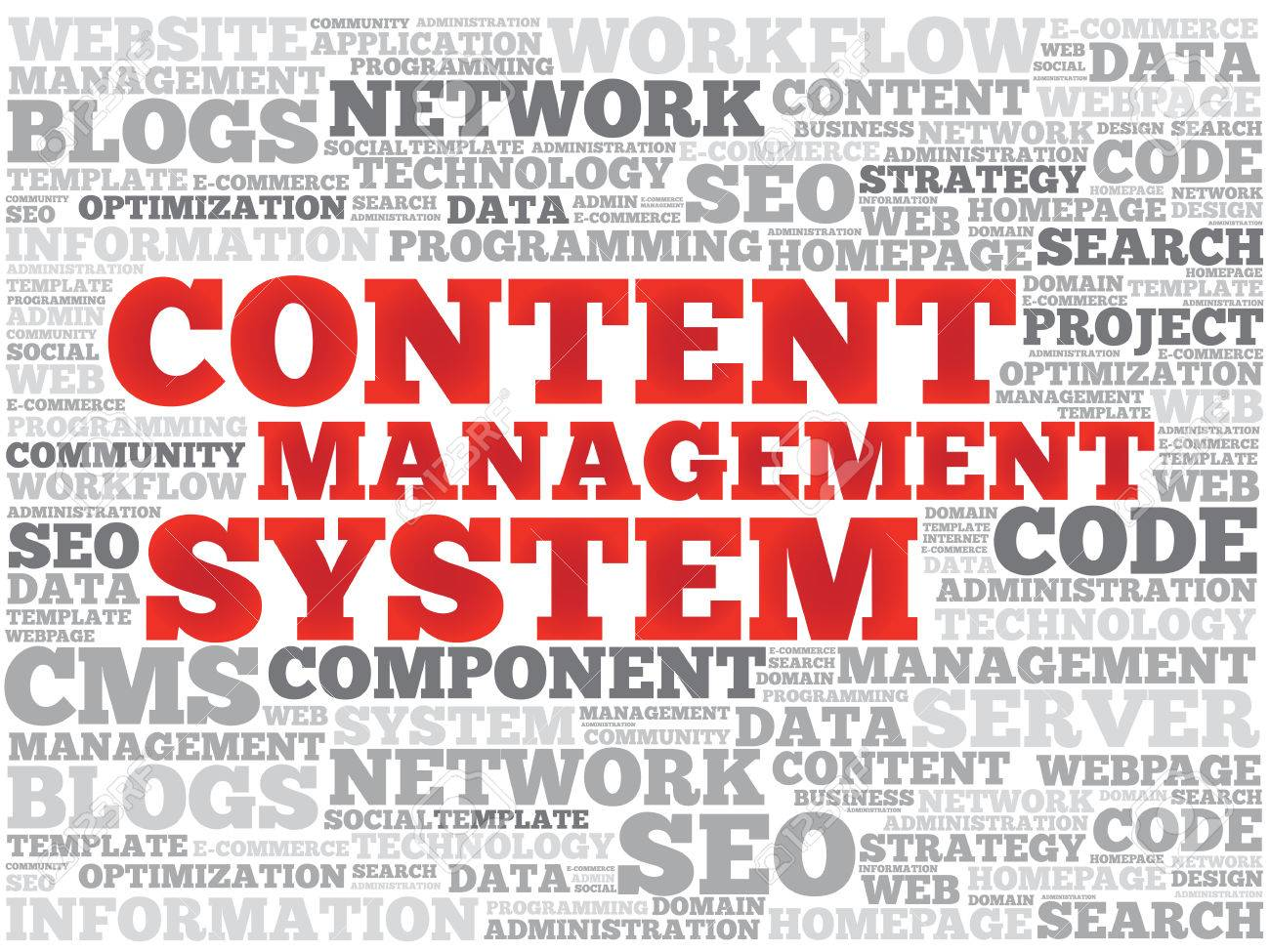cms content management system word cloud, business concept royalty, Powerpoint templates