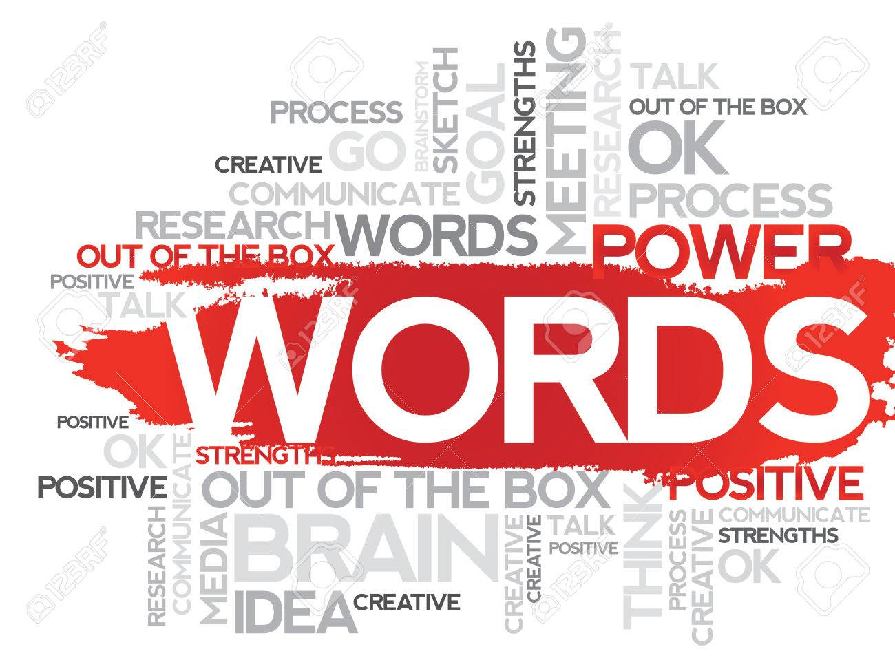 words word business collage vector background royalty free