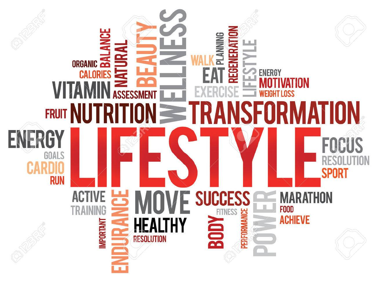 2db0547a7686a LIFESTYLE word cloud, fitness, sport, health concept Stock Vector - 37348638