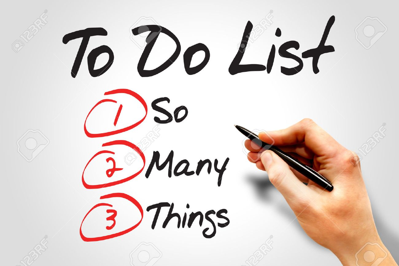 so many things in to do list business concept stock photo picture