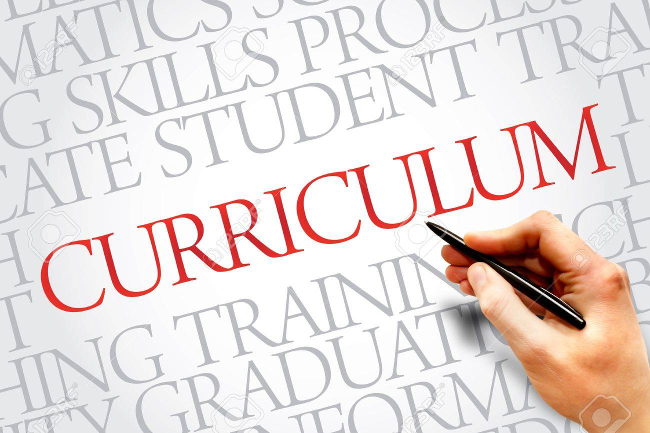 CURRICULUM word cloud, education business concept Stock Photo - 37918374