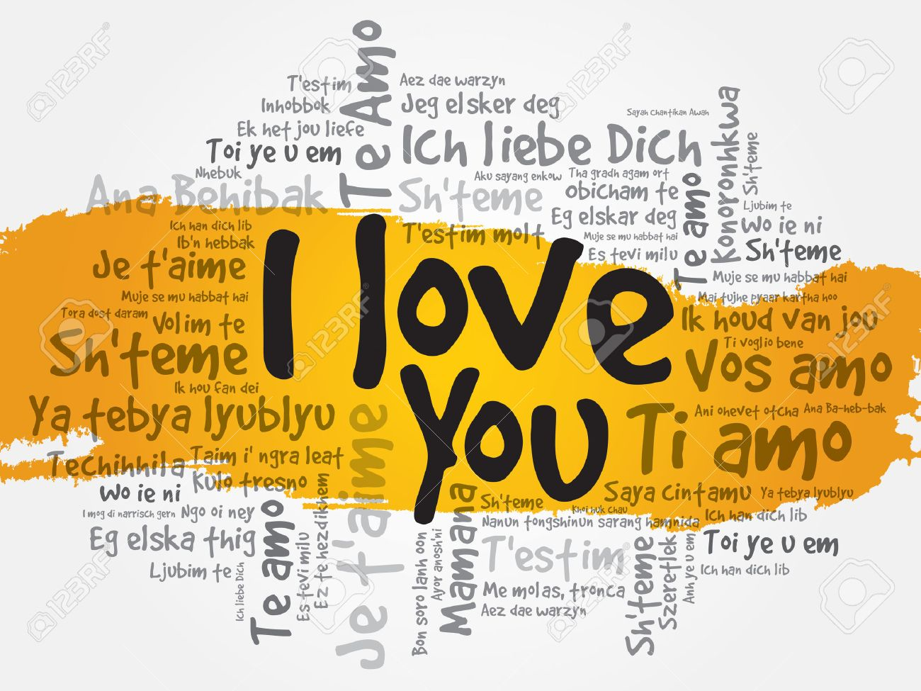 I Love You In All Languages Of The World Words Cloud Concept - All languages in the world