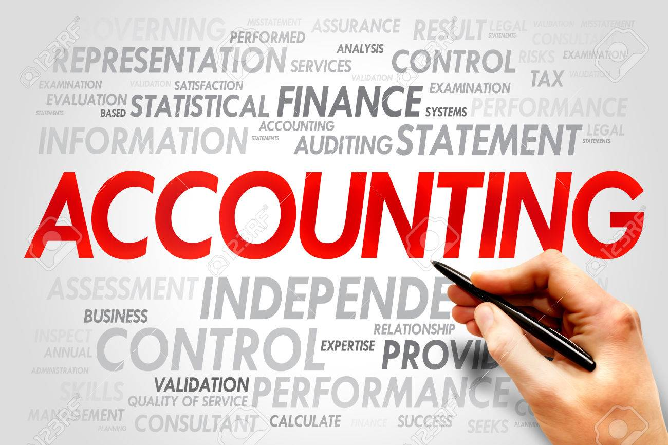 ACCOUNTING Word Cloud, Business Concept Stock Photo, Picture And ...
