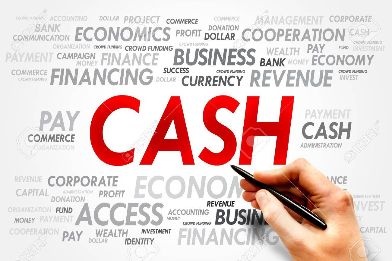 cash word cloud business concept stock photo picture and royalty
