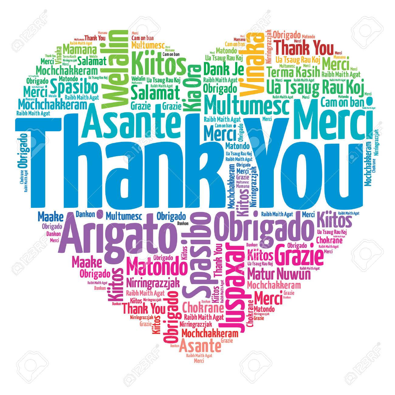thank you in many languages love heart concept royalty free rh 123rf com thank you in other languages clipart Black and White Thank You in Different Languages