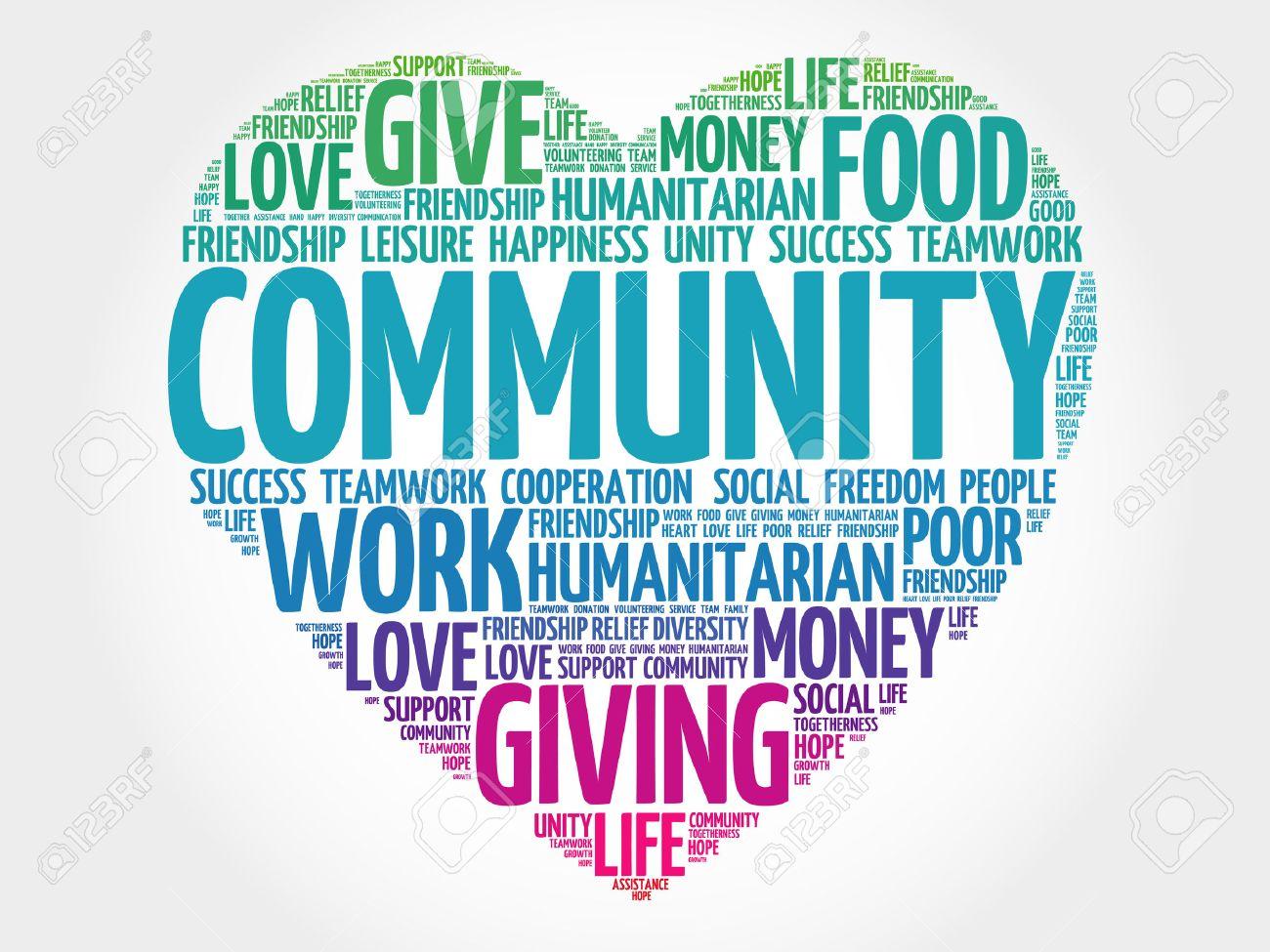 Community word cloud, heart concept - 45088058