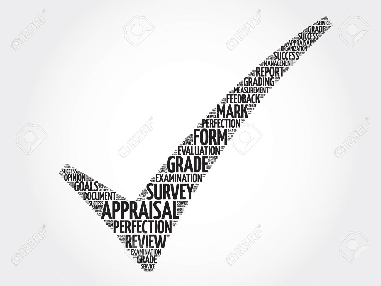 Appraisal Check Mark Vector Business Concept Words Cloud Royalty – Words for Appraisal