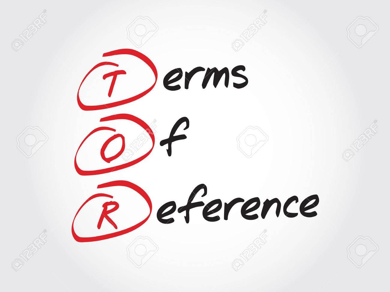 TOR - 参照、頭字語ビジネス概念...