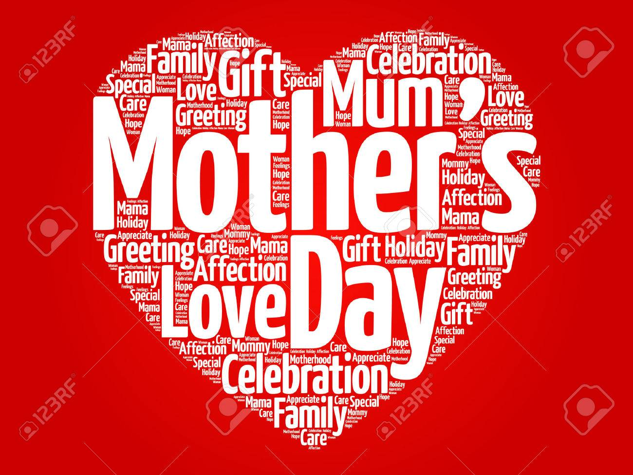 mother s day heart word cloud royalty free cliparts vectors and