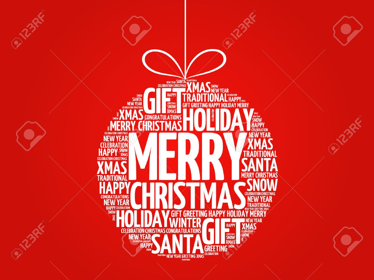 Joyeux Noël, Boule De Noël Nuage De Mot, Vacances Collage Lettrage