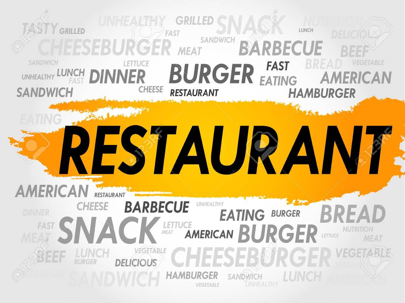 restaurant word cloud fast food concept royalty free cliparts