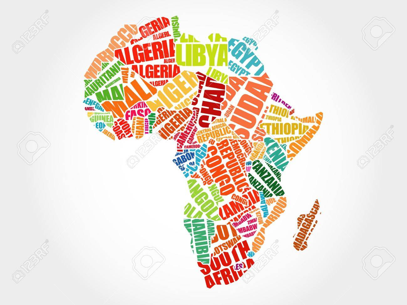 African countries map in typography word cloud concept royalty free african countries map in typography word cloud concept stock vector 49428273 gumiabroncs Choice Image