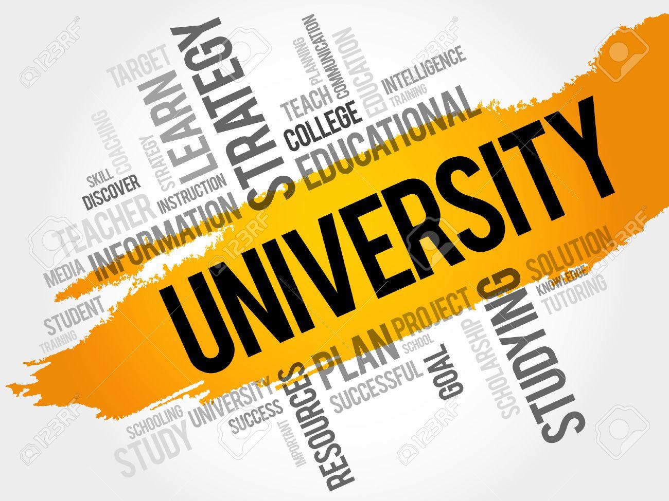 UNIVERSITY word cloud, education concept - 50441552