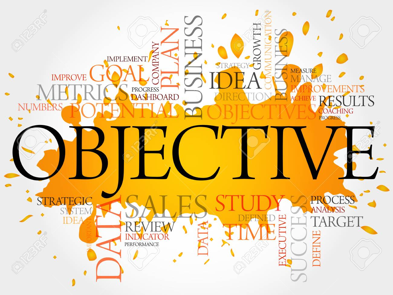 Objective Word Cloud, Business Concept Royalty Free Cliparts ...