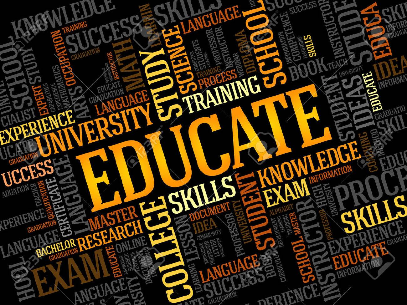 EDUCATE. Word education collage - 51099155