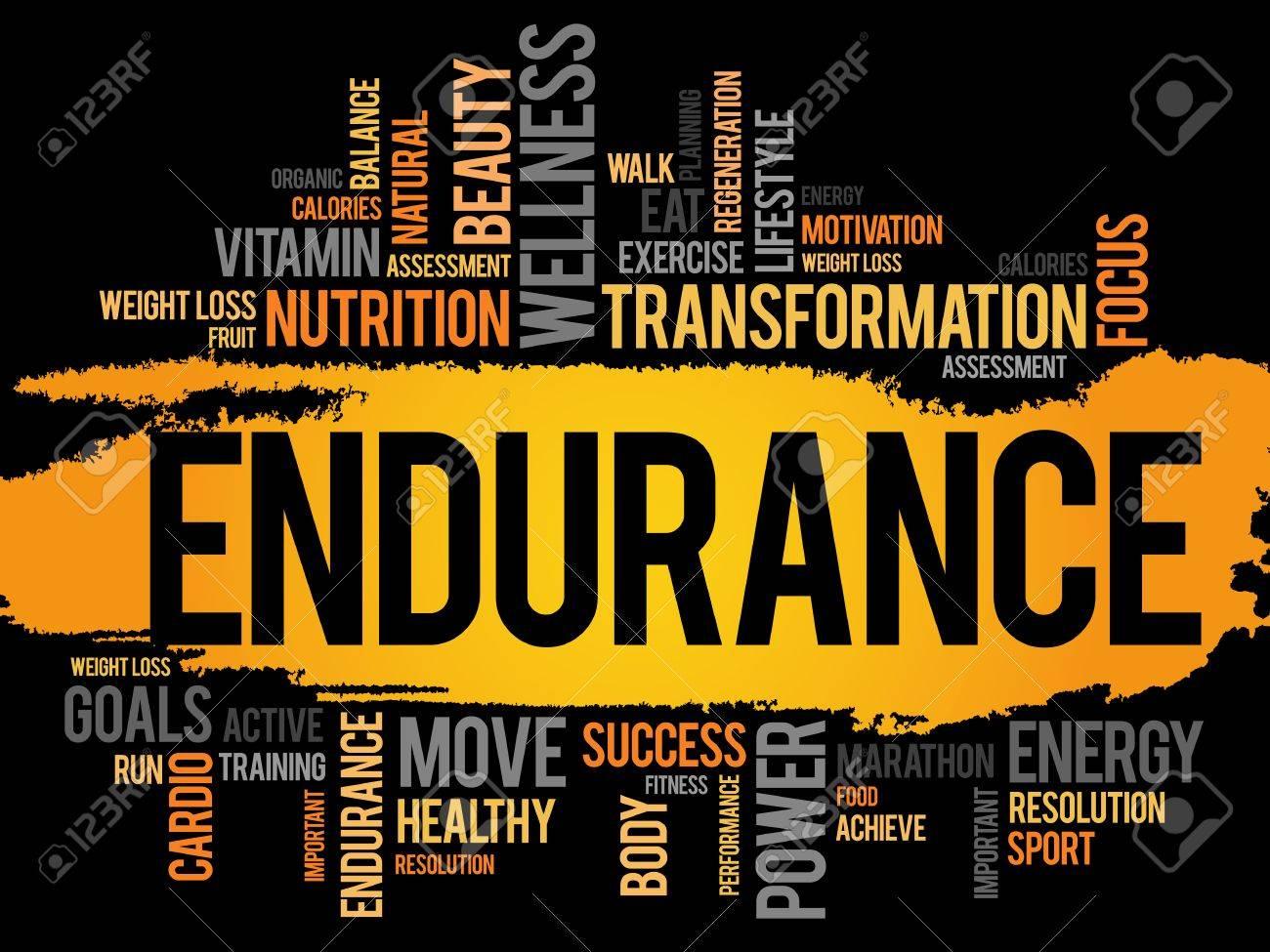 ENDURANCE word cloud, fitness, sport, health concept - 52334366