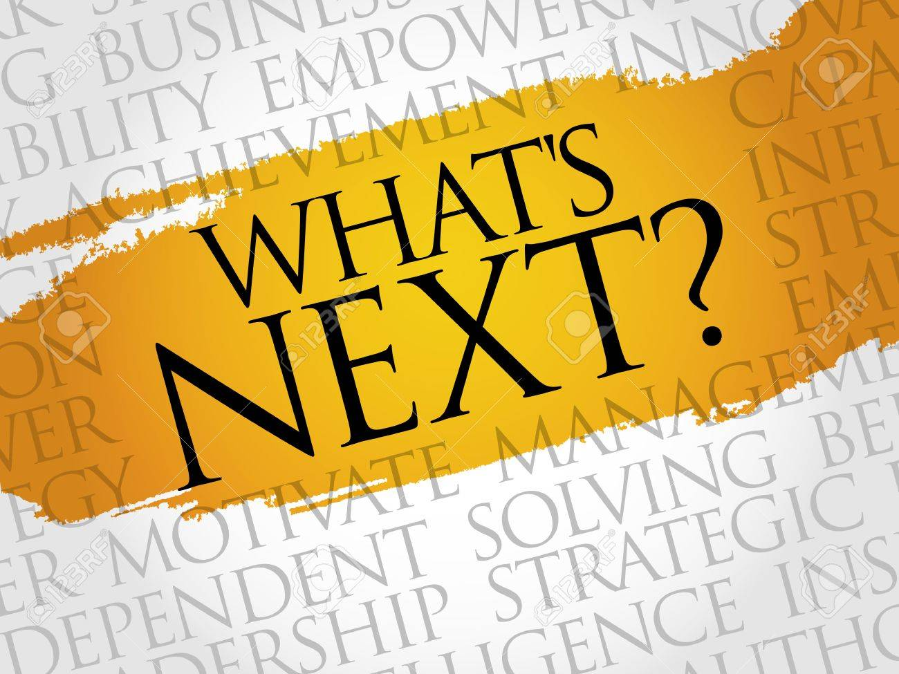 What's Next word cloud, business concept - 52335702
