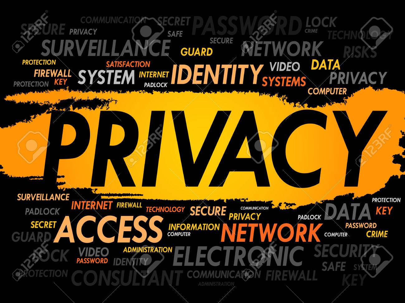 PRIVACY word cloud, business concept - 51879933