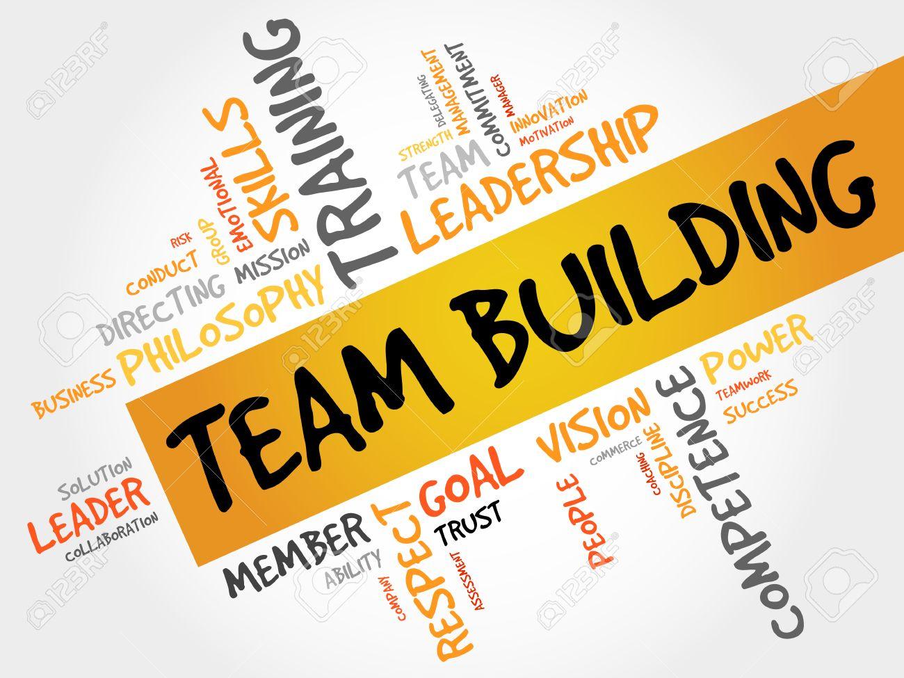 TEAM BUILDING word cloud, business concept - 52043014