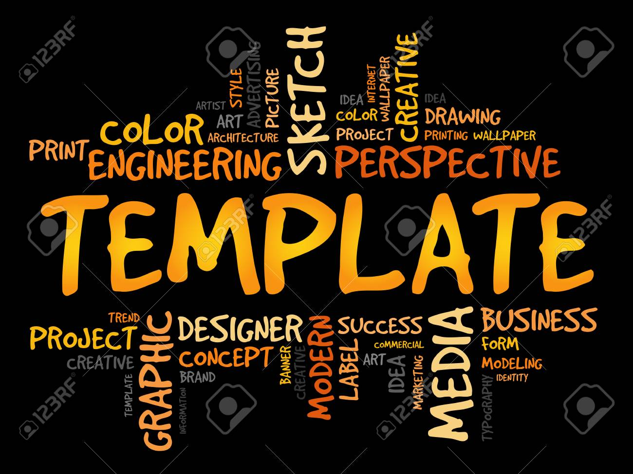 TEMPLATE Word Cloud, Business Concept Royalty Free Cliparts, Vectors ...