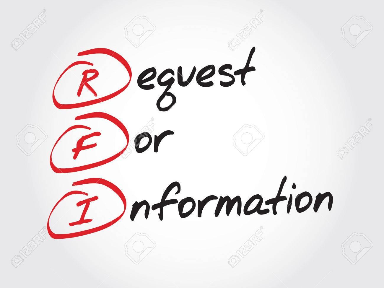 RFI を要求情報の頭字語ビジネス...
