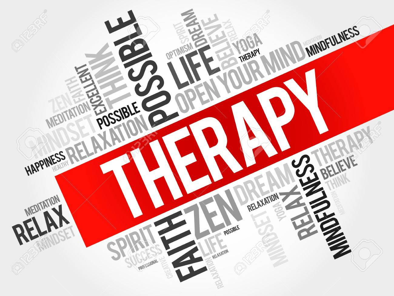 Therapy word cloud concept - 52563044