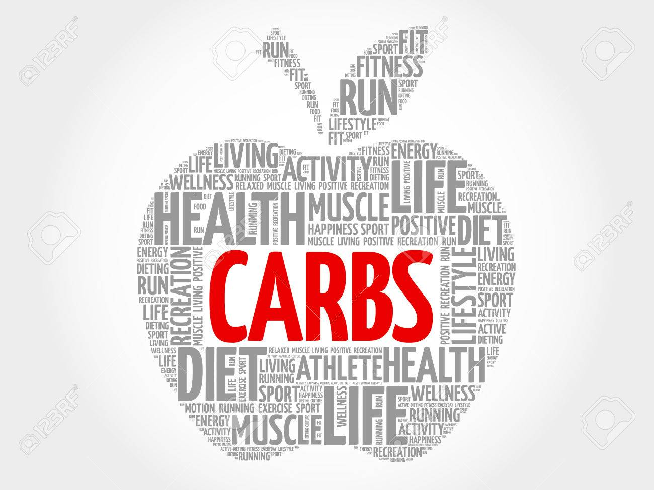 Carbs Apple Word Cloud Concept Royalty Free Cliparts, Vectors, And ...
