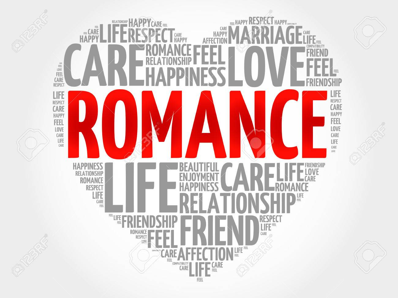 romance concept heart word cloud royalty free cliparts vectors and