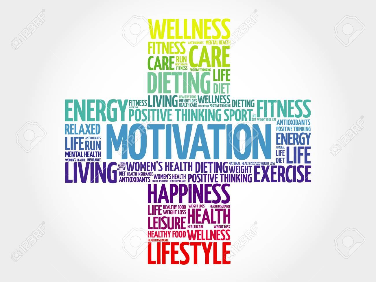 Motivación Nube De Palabras El Concepto De Salud Cruz