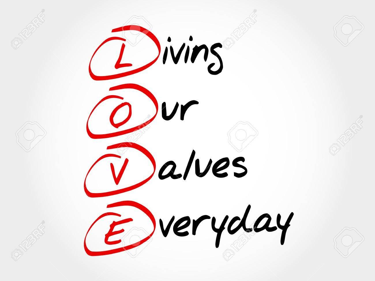 愛 - 私たちの値毎日の生活、頭...