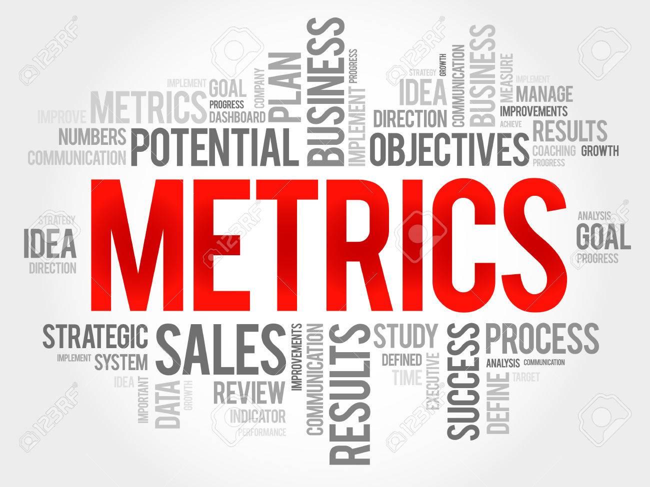 Metrics word cloud, business concept - 54973928