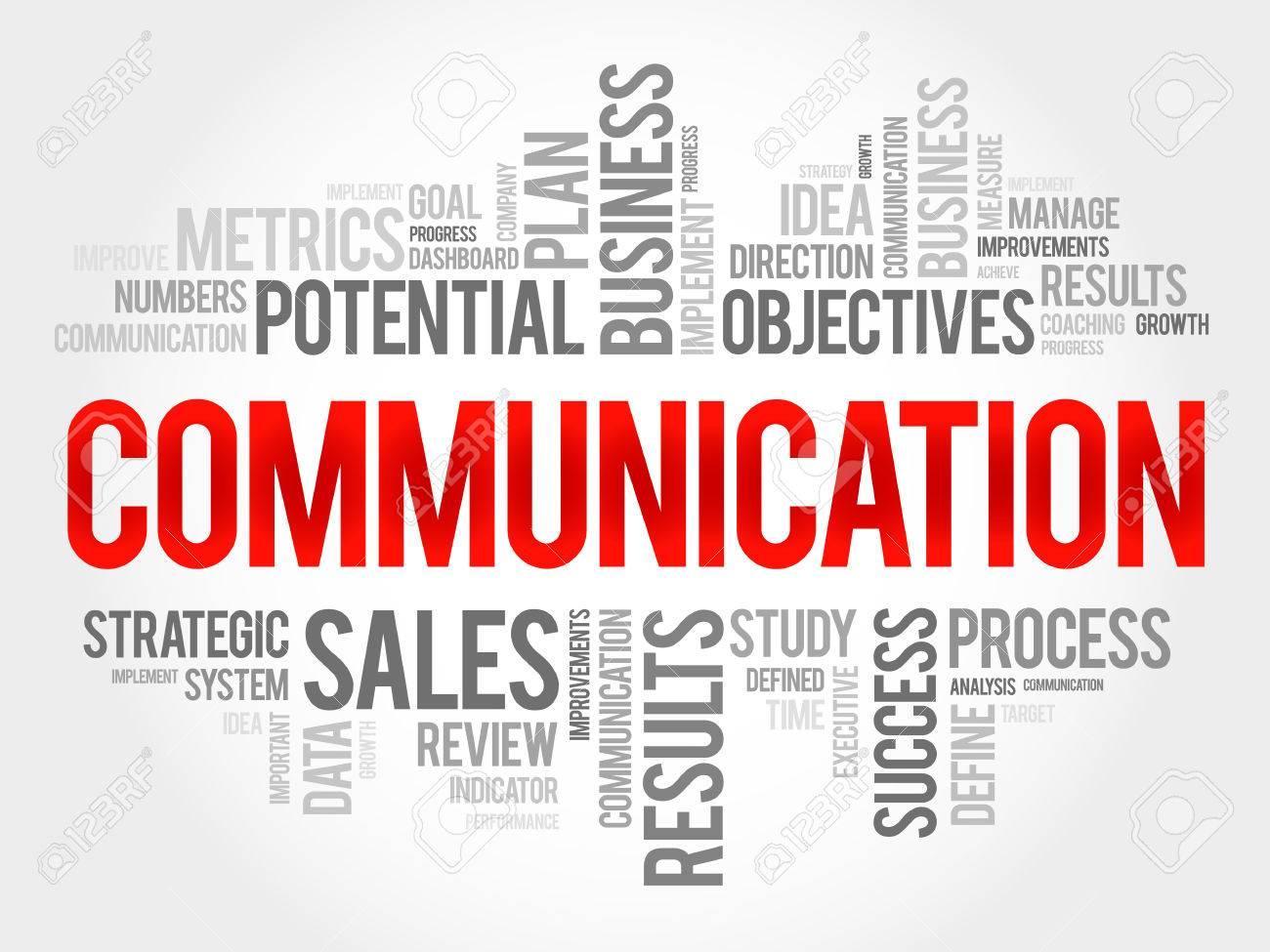 Communication word cloud, business concept - 55346613