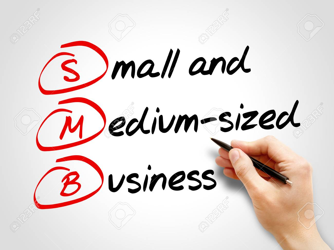 SMB - Small and Medium-Sized Business, acronym business concept - 56499319