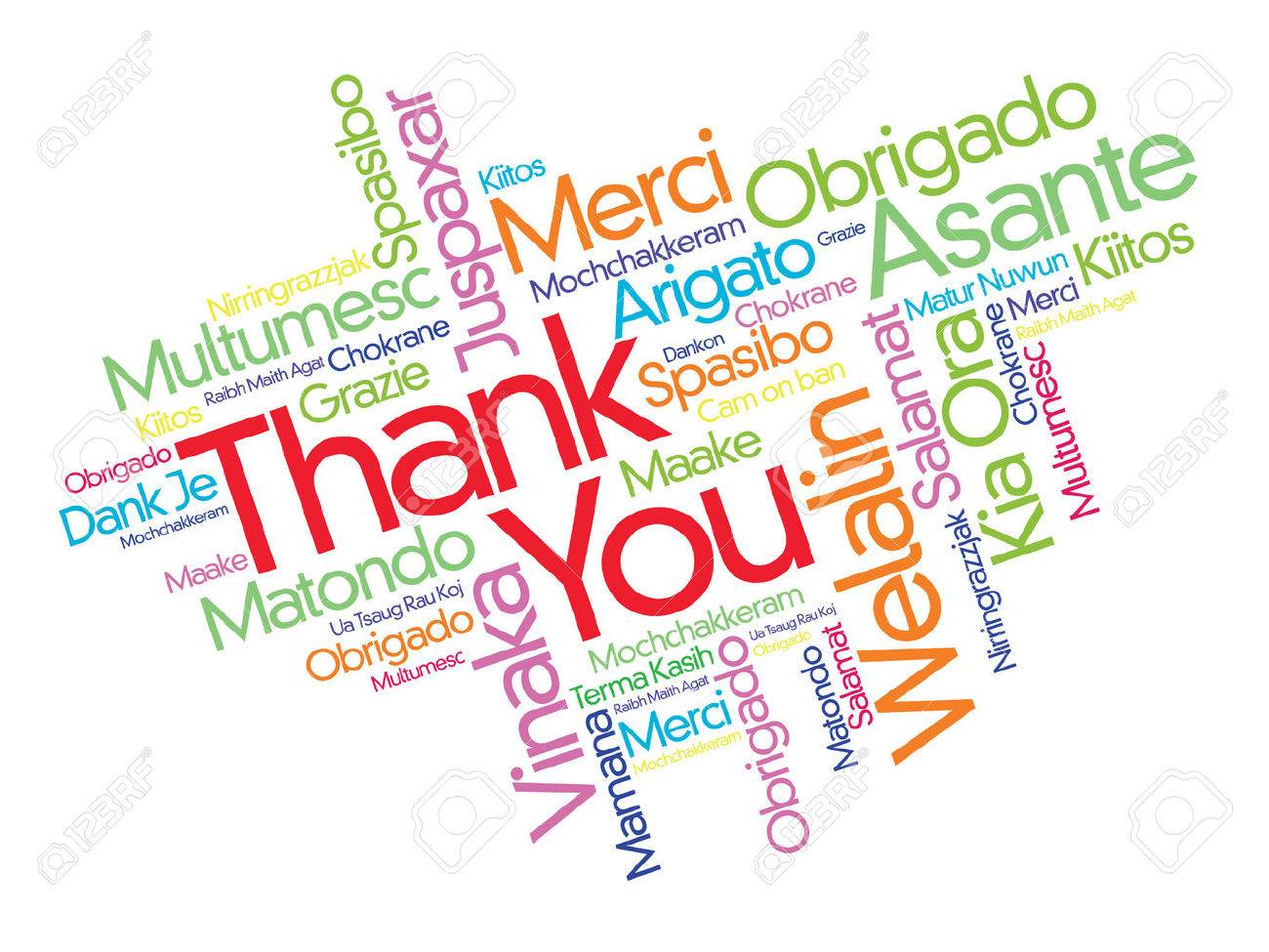Thank You word cloud in different languages, concept background - 57623750