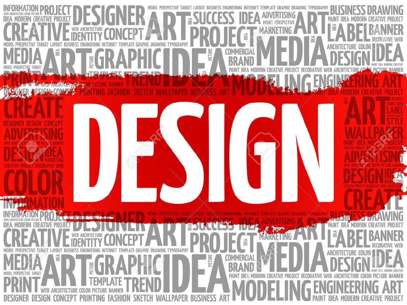 DESIGN word cloud, creative business concept background - 57528339