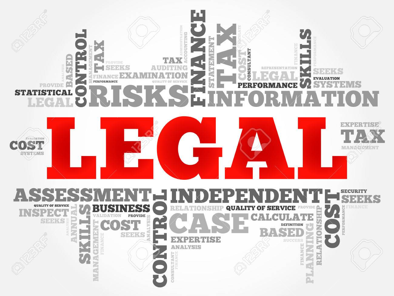 legal word cloud business concept royalty free cliparts vectors