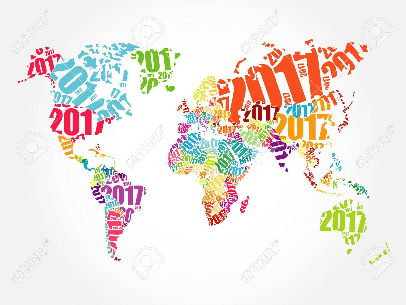 2017 happy new year world map in typography word cloud collage 2017 happy new year world map in typography word cloud collage concept stock vector gumiabroncs Image collections