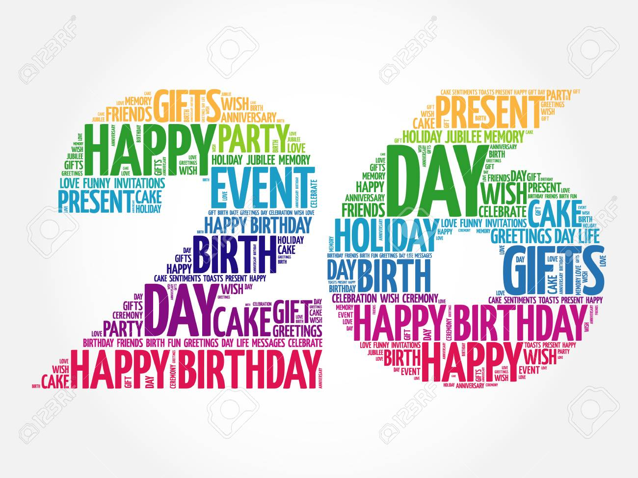 Wondrous Happy 26Th Birthday Word Cloud Collage Concept Royalty Free Personalised Birthday Cards Paralily Jamesorg