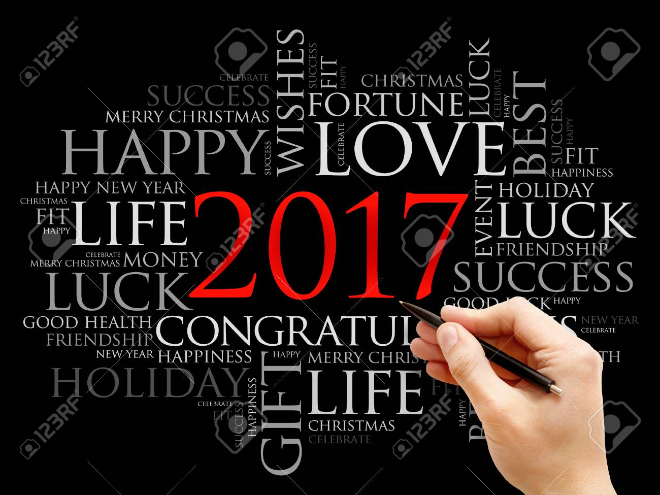 2017 year greeting word cloud collage happy new year celebration 2017 year greeting word cloud collage happy new year celebration greeting card stock photo m4hsunfo Image collections