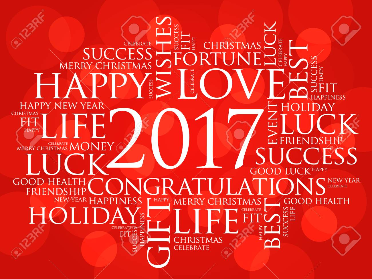 2017 year greeting word cloud collage happy new year celebration greeting card stock vector