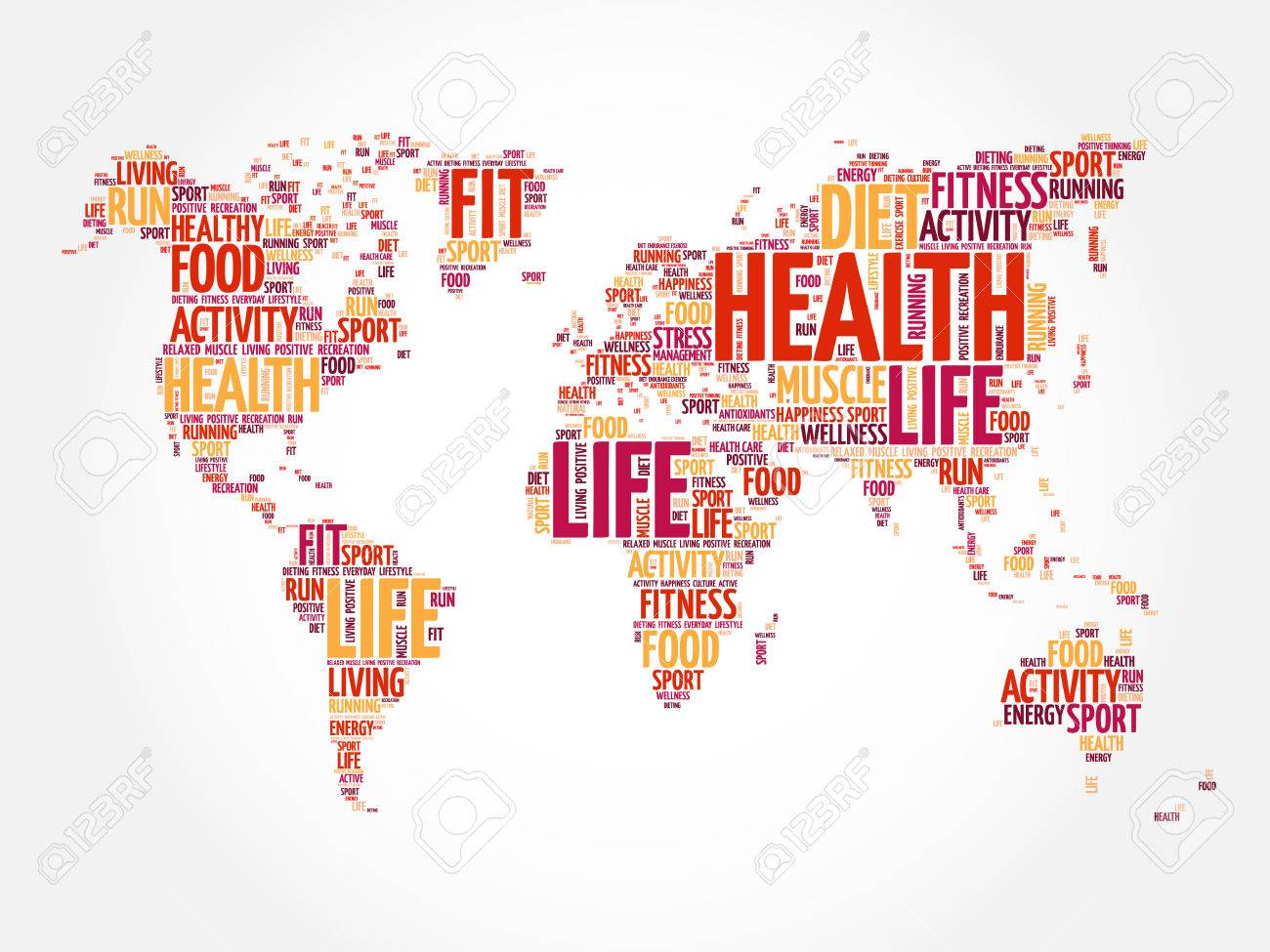 179 mental planet stock vector illustration and royalty free mental health and life world map in typography sport health fitness word cloud concept buycottarizona Choice Image