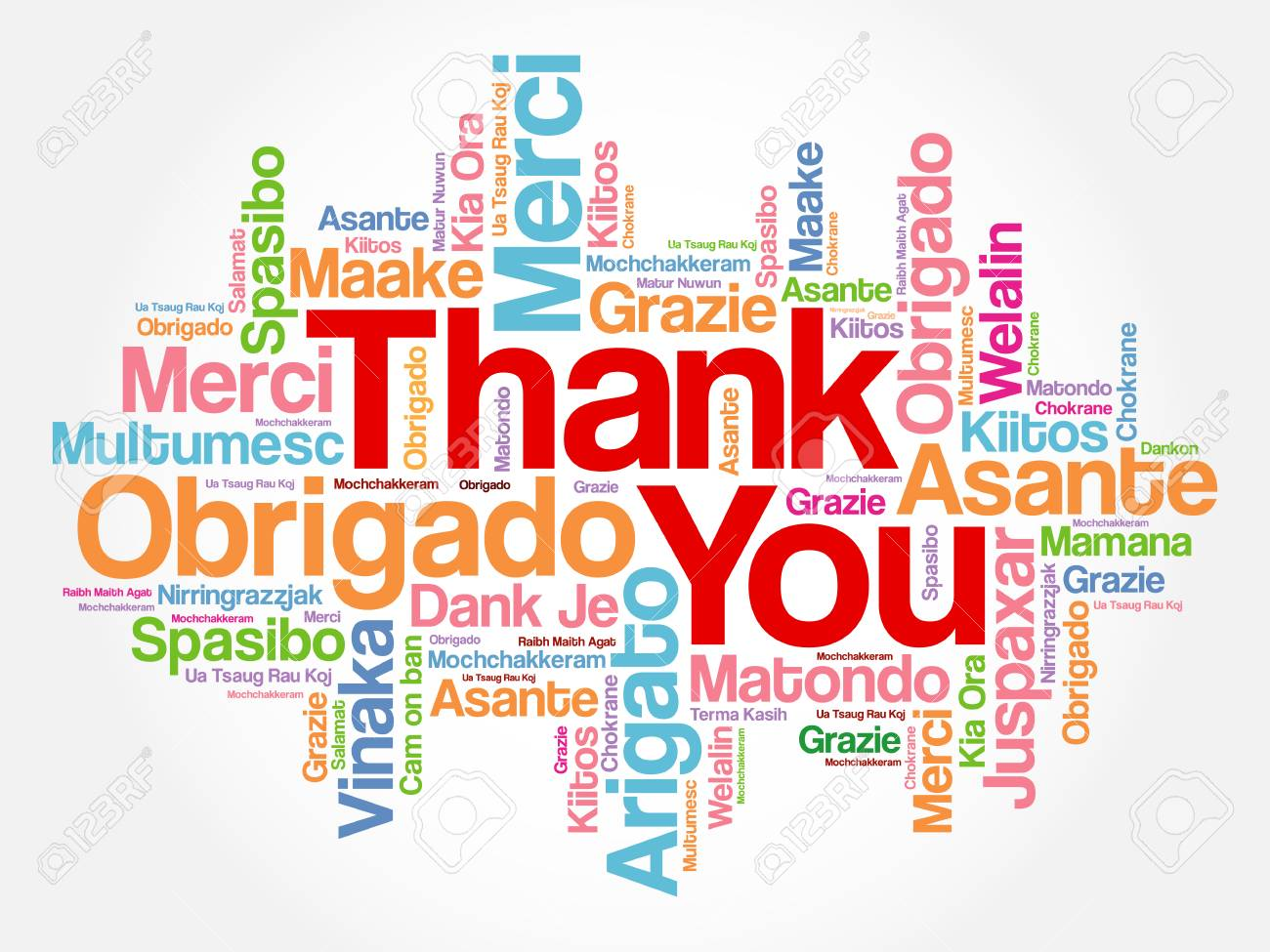 thank you word cloud in different languages concept background rh 123rf com thank you in other languages clipart Thank You in Different Languages List