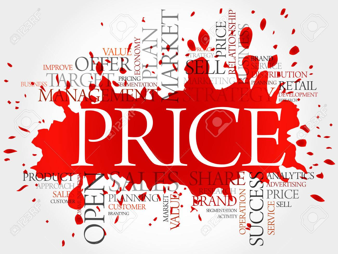 PRICE word cloud, business concept background - 76195530