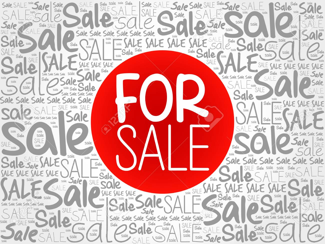 for sale words cloud business concept background royalty free