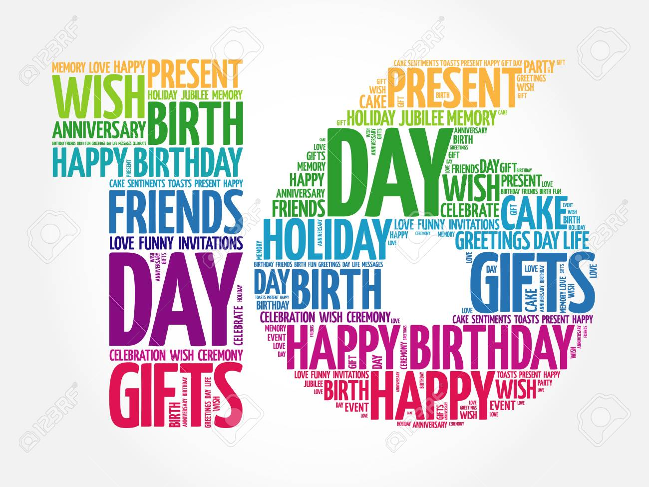 happy 16th birthday images Happy 16th Birthday Word Cloud Collage Concept Royalty Free  happy 16th birthday images