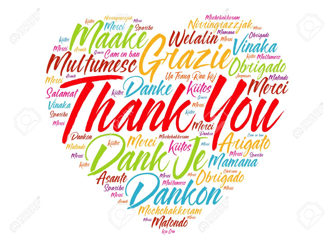 thank you love heart word cloud in different languages concept rh 123rf com Thank You Clip Art free thank you in different languages clipart