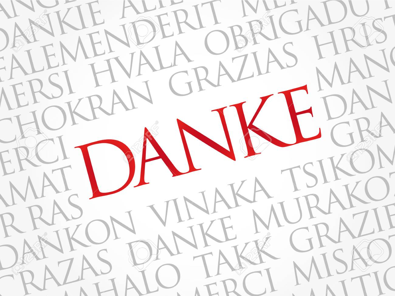 danke thank you in german word cloud background all languages