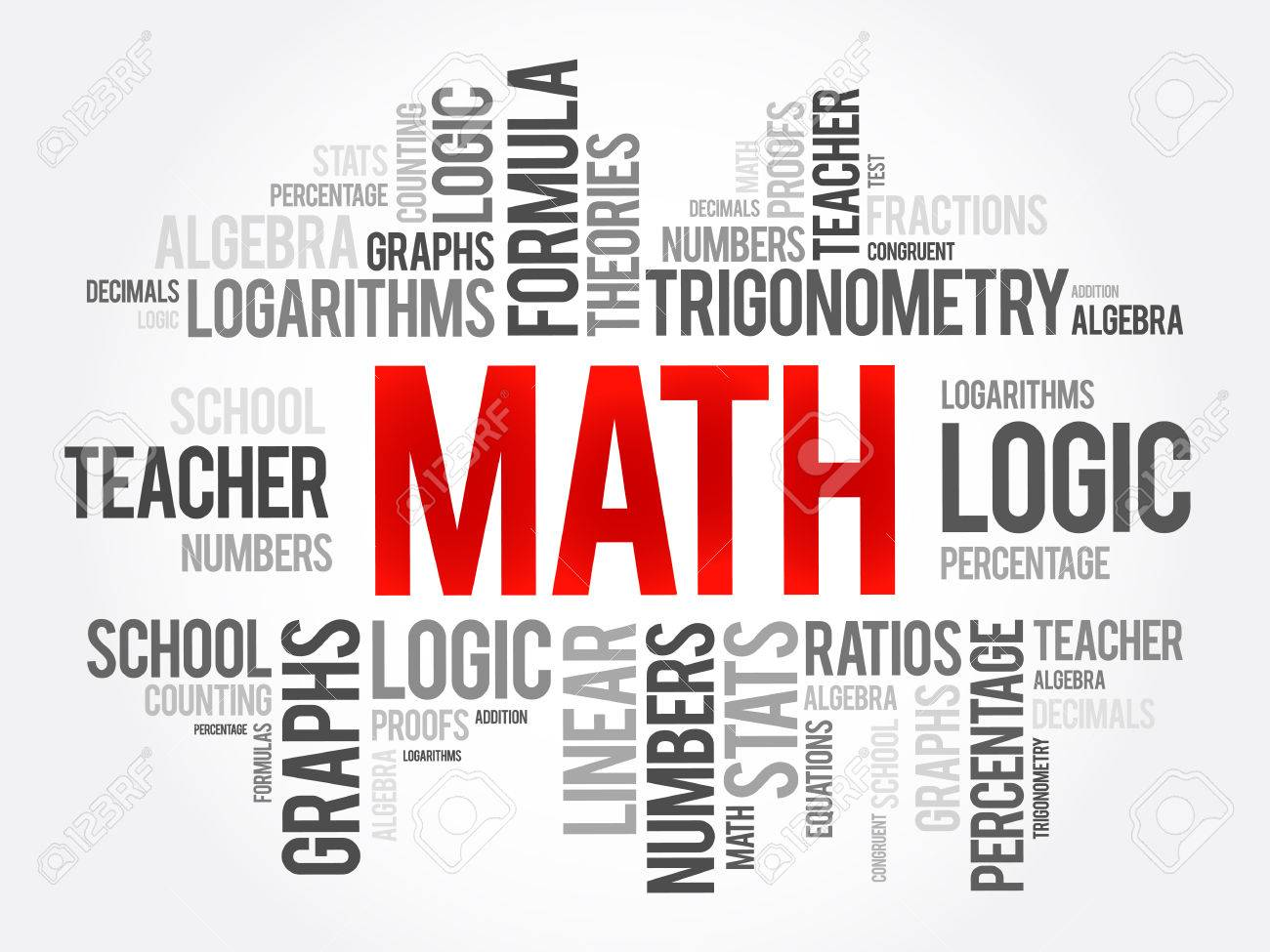math word cloud collage education concept background royalty free